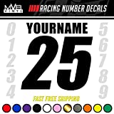 Racing Number Name Vinyl Decal Sticker | Dirt Bike Plate BMX Motocross Car Truck BMX