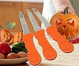 ANDES Pumpkin Carving Kit Halloween Lantern Face Pattern Tools (Orange)