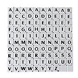 Trimming Shop Lot de 100 pièces de lettres de l'alphabet blanches avec lettres...