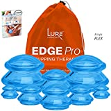 Lure Edge Cupping Therapy Sets - Silicone Cups for Cupping Professional Choice 8 Cups Blue, Flex