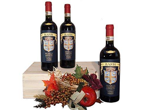 Cassetta Vino Importante Brunello di Montalcino della Fattoria dei Barbi - Regalo Indicato per Celebrare una Festa o una Ricorrenza - Cod. 34a