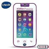 VTech- KidiCom Advance Blanc et Rose, le portable enfant sans forfait