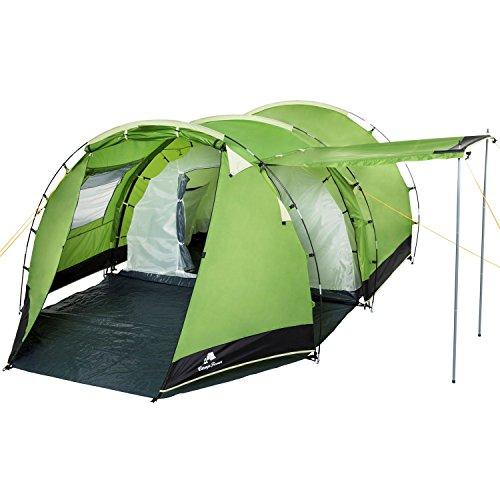 CampFeuer Tente Tunnel pour 4 Personnes Super+ | Grande Tente familiale...