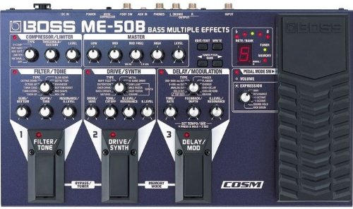 BOSS Bass Multiple Effects Guitar Pedal with COSM (ME-50B)