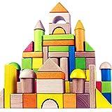 Wooden Building Blocks Set for Kids - Rainbow Stacker Stacking Game Construction Toys Set Preschool...