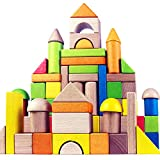 Migargle Wooden Building Blocks Set for Kids - Rainbow Stacker Stacking Game Construction Toys Set...
