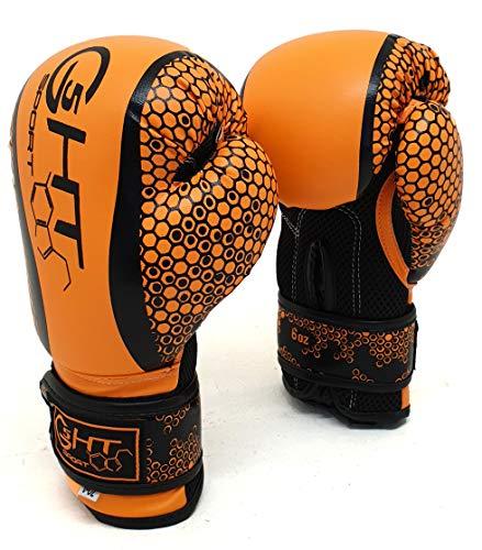 G5-HT Guanto da Boxe Junior HIVE 6oz Arancione Fluo Guanto Boxe Bambini Arti Marziali Allenamento...