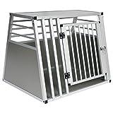 EUGAD Trasportino per Animali Cuccia per Cane da Esterno Gabbia in Alluminio Trapezoidale 80x65x65cm 0061HT