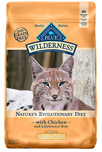 Blue Buffalo Wilderness High Protein, Natural Adult Weight Control Dry Cat Food, Chicken 11-lb 1