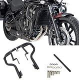 Hunter-Bike for Vulcan 650 Engine Guard Crash Bar Compatible with Kawasaki Vulcan S 650 VN650 EN650 2015 2016 2017-2020 (Vulcan black650)