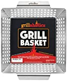 Grillaholics Heavy Duty Grill Basket - Large Grilling Basket for More Vegetables - Stainless Steel...