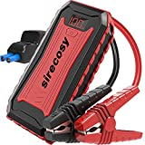 sirecosy Battery Jump Starter 2400 Amp 22000mAh Car Jump Starters for up to 7.0L Gas and 6.5L Diesel Engines Portable Jump Starter Battery Pack 12V Lithium Jump Box Black&Red