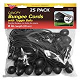 Keeper 06345 8' Canopy Bungee Cord, 25 Pieces
