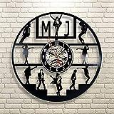 xcvbxcvb Reloj de Pared con Disco de Vinilo LED Dance en diseño Moderno Reloj de Vinilo de Michael Jackson con 7 Colores Reloj de Pared con Cambio de LED decoración del hogar