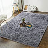 Andecor Soft Fluffy Bedroom Rugs - 4 x 6 Feet Indoor Shaggy Plush Area Rug for Boys Girls Kids Baby...
