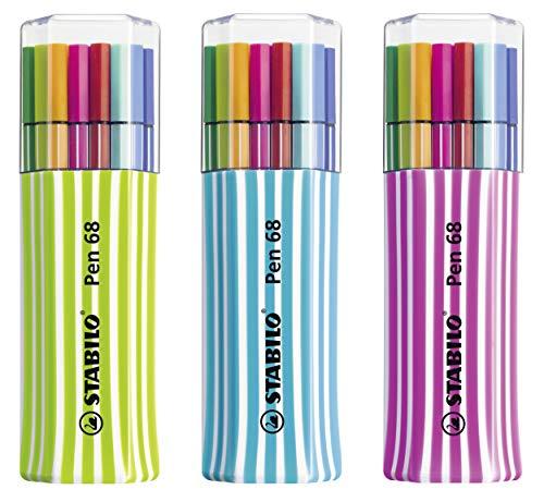 Pennarello Premium - STABILO Pen 68 Single Pack - Astuccio da 15 - Colori assortiti