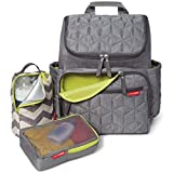 Skip Hop Diaper Bag Backpack: Forma, Multi-Function Baby Travel Bag with Changing Pad & Stroller...