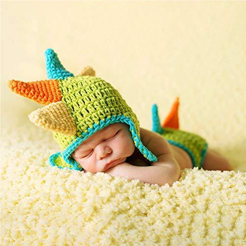 LIUHE Newborn Green Dinosaur Costume Crochet Knitted Costume Hat...