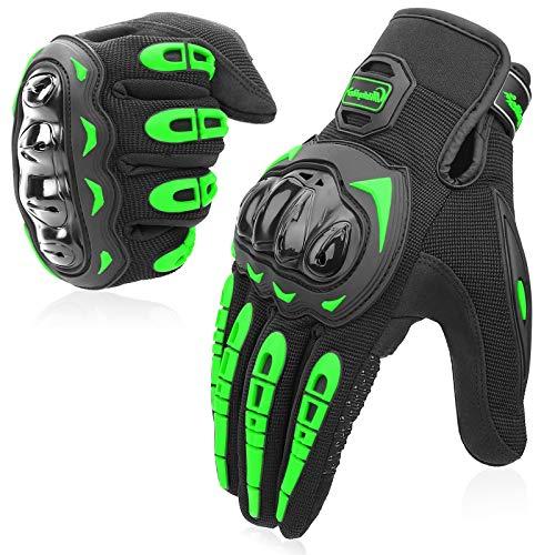COFIT Motorrad Handschuhe, Touchscreen Motorradhandschuhe für Motorradrennen, Mountainbike, Motorcross, Klettern, Wandern und andere Outdoor Sportarten und Aktivitäten - Grün XL