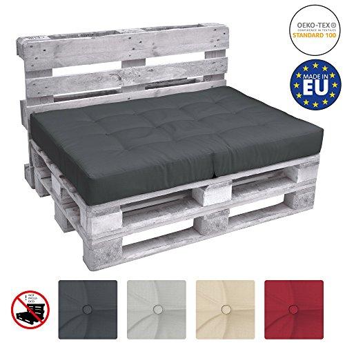 Beautissu Cuscino per Seduta di Divano Pallet Eco Elements 120x80x15cm - per divanetti con bancali...
