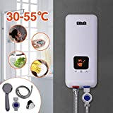 240V 5.5KW 3 Power Levels Instant Electric Hot Tankless Water Heater for Bathroom Kitchen