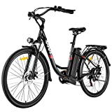 VIVI Electric Bike 350W Adult Electric Bicycle 26' Electric Cruiser Bike/Electric City Bike with Removable 8Ah Lithium-Ion Battery, Shimano 7 Speed