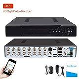 16 Channels DVR Recorder Hybrid DVR H.264 CCTV Security Camera System Digital Video Recorder(No Hard Drive Included)