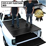 DNA Motoring TTC-HARD-015 Truck Bed Top Hard Solid Tri-Fold Tonneau Cover Compatible with 15-20 F150 5.5Ft Fleetside Bed