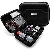 VapeHero E-Zigarette Tasche mit Premium Matte zum herausnehmen   Dampfer Etui für Liquid Flaschen und Zubehör   Passend für große Mods 18650 Akku   Stoßfest