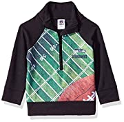 Includes one officially licensed Seattle Seahawks 1/4 zip jacket Polyester Interlock Seahawks logo with sublimation Country Of Origin : El Salvador