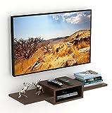 BLUEWUD Aero Engineered Wood TV Entertainment Unit/Wall Set Top Box Stand Shelf Wenge (Standard)