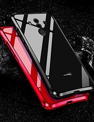 Huawei P20 Pro メタルバンパー uovon 高品質アルミ製フレーム+バックプレート スクラッチ保護 オシャレデザイン p20pro docomo HW-01K 最高レベル耐衝撃 ケース (P20 Pro, レッド)