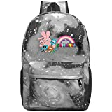 Hdadwy Amazing World Happy Gumball Galaxy Mochila Mochila Informal Mochila Escolar Ligera para Estudiantes, Viajes, Negocios