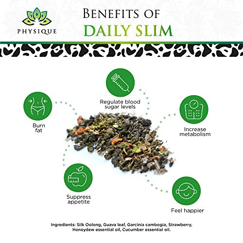 Herbal Tea Weight Loss Cleanse: Daily Slim Detox Tea for Natural Weight Loss - Slimming Diet Aid Tea with Appetite Suppressant - Metabolism Booster and Fat Burning Supplement -Over 150 Servings - 8 oz 8