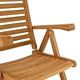 DIVERO Stuhl Teak Holz klappbar massiv Gartenstuhl Teakstuhl Holzstuhl behandelt - 3