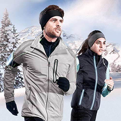 isnowood Ear Warmers for Men Women 2pack Earmuffs Thermal for Winter Sports Headband for Running Skiing Yoga Workout