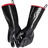 MAFORES BBQ Grill Gloves 932℉ Heat Resistant Grilling Waterproof Gloves for Turkey Fryer, Baking...