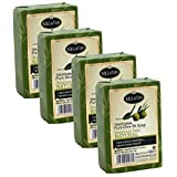 Kalliston   Olive Oil Soap Natural Aroma   Fragrance Free   All Natural   Made in Ancient Crete, Greece   Pack of 4