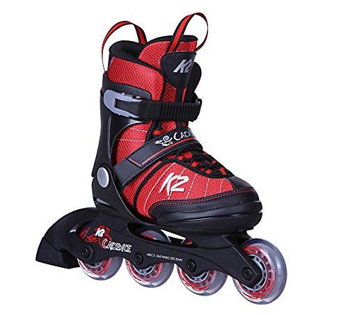 K2 Cadence JR Boy Kinder Inline-Skates 30C0340 Red/Black Gr. M (32-37)