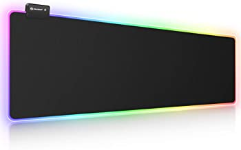 RGB Gaming Mouse Pad, UtechSmart Large Extended Soft Led Mouse Pad with 14 Lighting Modes..