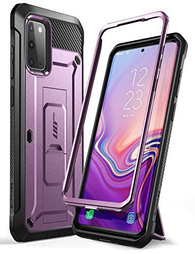 SUPCASE Outdoor Hülle für Samsung Galaxy S20 Handyhülle Bumper Case Rugged Schutzhülle Cover [Unicorn Beetle Pro] 6.2 Zoll OHNE Displayschutz mit Gürtelclip und Ständer 2020 Ausgabe, Lila
