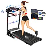 ANCHEER Folding Treadmill with Smartphone Sports APP,Smart Electric Foldable Jog Walk Machine with 3 Level Manual inclines,Easy Assembly Exercise Machine for Small Spaces