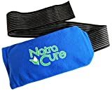 NatraCure Universal Cold Pack Ice Wrap – 1 Ice Pack Compress w/ 1 Sleeve - 5' x 10' Pouch, Holder with 24' Nylon Strap and 1 Clay Pack, Reusable for Injuries to Arm, Wrist, Foot, Elbow, Knee, Ankle