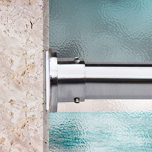 RoomDividersNow Premium Tension Curtain Rod, 80in-120in (Silver)