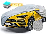 SUV Car Covers Breathable Vehicle Cover All Weather Outdoor Auto Cover UV Resistant Windproof Storm Protection Water Resistant Car Covers 240'