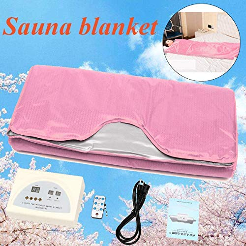 INLOVEARTS Far-Infrared (FIR) Sauna Blanket, 2 Zone Weight Loss Body Shaper Professional Detox Therapy Anti Ageing Beauty Machine (with Remote Control) 2