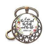 Llavero de Jesús Jewellry I am The Way The Truth and The Life John 14:6 con...