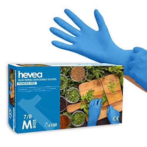 Guanti monouso in nitrile senza polvere 1 x 100 taglia M