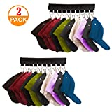 Genleas 2 Pack 10 Baseball Cap Holder, Hat Organizer, Cap Organizer Hanger for Closet - Change Your Cloth Hanger To Cap Organizer Hanger - Keep Your Hats Cleaner Than a Hat Rack