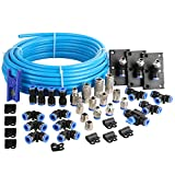 WYNNsky Shop Air Line Kit, 3/8 Inch (9.5MM) OD × 60 Feet Nylon Compressed Air Pipe, 200PSI, Cutter, Tees, Mounting clips, Connectors, 49PCS Garage Air Compressor Accessories Master Kit
